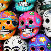 Colorful Skulls Mexico Jigsaw Puzzle