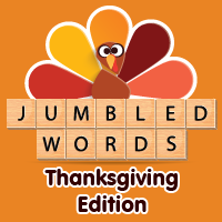 Jumbled Words: Thanksgiving  ..